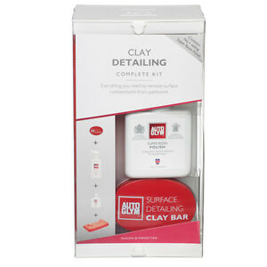 Autoglym Surface Detailing Clay Bar Kit Detailer Polish Complete Kit Auto Glym