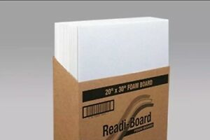 Foam Board White 20 x 30 3 16 case Of 25