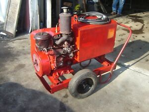 Vintage Crank Start Wisconsin Engine On A 225 Amp Lincoln Welder Rebuilt Running