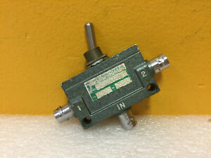 Sage Stb2180a Dc To 5 Ghz Bnc f Toggle Type Coaxial Switch Tested
