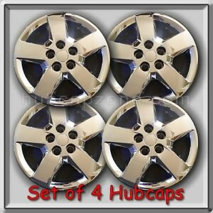 16 Chrome Chevy Chevrolet Hhr 2010 2011 Bolt On Hubcaps Wheel Covers Set Of 4
