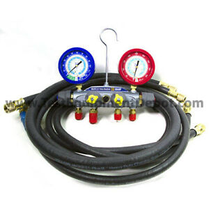 Yellow Jacket 46094 Brute Ii Test Charge Manifold f c Liquid Gauge