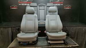 2006 Bmw 750i Front Bucket Rear Seats Power Leather Gray Interior Trim Code Fa