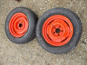 Allis Chalmers Ac B Tractor Rims Firestone 27 X 8 5 15 Front Floater Tires