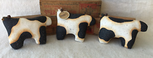 Primitive Ornies Cows Nodders Bowl Fillers Make Do S Prim Ornies Farmhouse