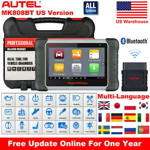 Autel Mk808bt Obd2 Bluetooth Diagnostic Tool Code Reader Scanner Abs Srs Sas Dpf