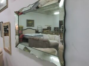 Large Vintage Etched Venetian Style Mirror Beautiful