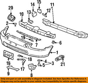 Honda Oem Civic Del Sol Front Bumper reinforcement Beam Hook Left 71139sr2a00zz
