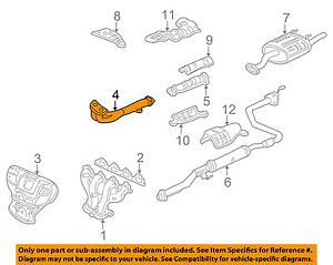Honda Oem 96 98 Civic 1 6l l4 Exhaust System front Pipe 18210s04a81
