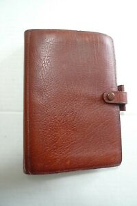 Filofax Leather Planner Made In England very Classic brown Winchester