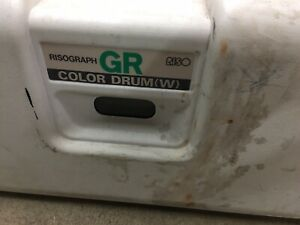 Risograph Riso Gr Series Color Drum w Green Ink With Case
