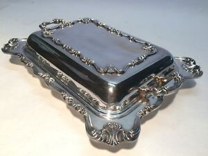 Vintage W S Blackinton Victoria 220 Silver Plate Divided Covered Server
