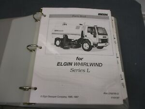 Elgin Whirlwind L Street Sweeper Parts Manual Book