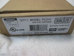 Hubbell Pld10 Dual lite Emergency Led Battery Pack 120 277v Ni cd New