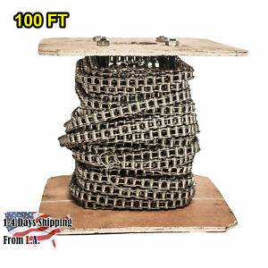 40 Ss Stainless Steel Roller Chain 100 Feet With 10 Connecting Links