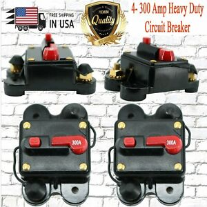4x 300 Amp Circuit Breaker Replaced Fuse Holder Car Marine Stereo Fuse 12v