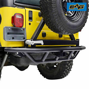 Rear Bumper With Tire Carrier Rock Crawler For 1987 2006 Jeep Wrangler Yj Tj