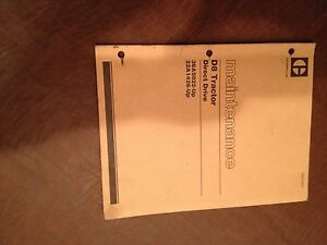 Cat Caterpillar D8 Tractor Bulldozer Maintenance Manual Direct Drive 36a 22a