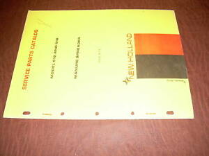 Sperry New Holland 512 518 Manure Speader Parts Catalog