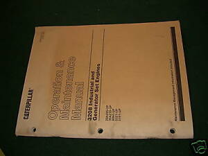 Cat 3208 Operation Manual Engine Maintenance Book