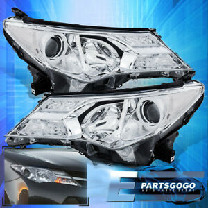 Chrome Projector Driving Replacement Unit Head Lights Lamps Pair For 13 15 Rav4