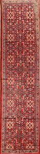Vintage Traditional Floral Sarouk Persian Oriental Hand Knotted 3x13 Runner Rug