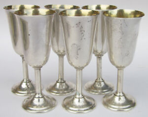 Lot Of 6 International Sterling Silver Lord Saybrook Cordial Cups Mini Goblets