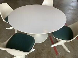 Vintage Mid Century Modern Dining Set 60 Table With 4 Chairs Burke Inc
