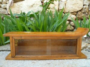Antique Vintage Wood Glass Medicine Cabinet Apothecary Wall Chest