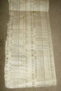 Vintage Precision 10 12 Tube Tester Roll Chart Incomplete