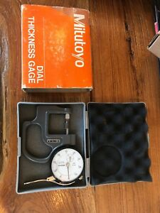Mitutoyo No 7316 Dial Thickness Gage No 2412f Made In Usa In Case Machinist