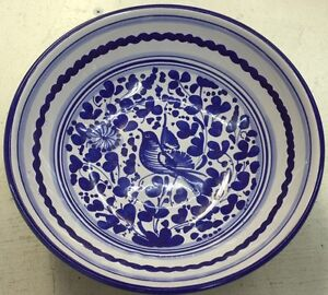 Deruta pottery 8inch Bowl With Arabesco Pattern.Made painted by hand Italy