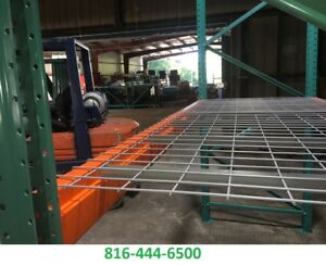 Pallet Rack 42 in X 46 in Wire Mesh Deck 3 Chan 2500 Lbs Cap Racking