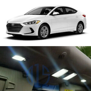 8 X White Led Interior Package License Plate Light For 2017 2020 Hyundai Elantra
