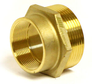 Nni Fire Hose Hydrant Hex Adapter 2 Female Npt X 2 1 2 Male Nst Nh Hsr a2025fm