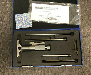 Fowler 0 4 0 001 Depth Micrometer Assembly Kit Preowned