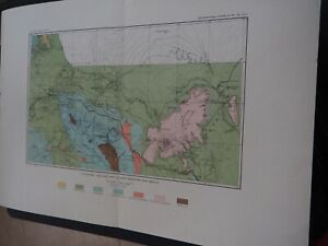 Antique Map Volcanism Geologic Map Of Northwestern New Mexico 1883