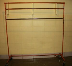 Used Commercial Grade Heavy duty Z Rack Style Clothes Rack With Casters