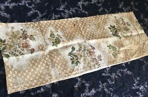 Beautiful Pattern Antique Early 1800s French Silk Brocade Cartouche Fragment