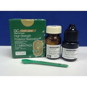 Gc Fuji 9 Gold Label Packable Restorative Glass Ionomer 15g P And 8g Dental