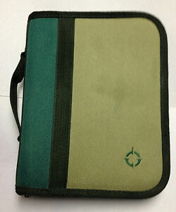 Compact 1 0 Removable Rings Green Tan Canvas Franklin Covey Planner Binder