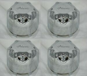 4 Cap Deal Pacer Wheel Rim 89 9235hm Chrome Center Caps With Wire Retainer Rings