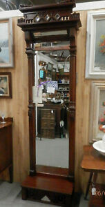 Victorian Peer Mirror Pier Mirror Mahogany All Beveled Mirrors Exquisite