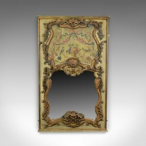 Large French Rococo Revival Wall Mirror Painted Hall Overmantel C20th