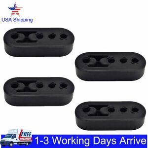 4pcs Car Rubber Exhaust Tail Pipe Mount Bracket Hanger Insulator 4 Holes Durable