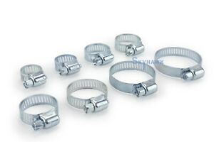 40 Pc Hose Clamp Set Contains 8 Different Sizes