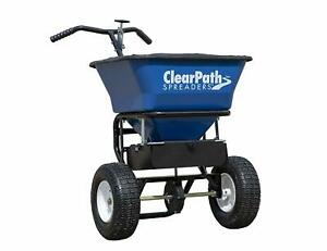 Buyers Products 3039632 Clear Path Walk Behind Salt Spreader Blue