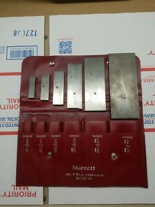 Starrett Parallels Set Of Six No s 154 L