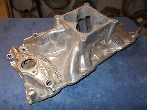 Offenhauser Offy B B Chevy Supersonic Manifold Rect Port 4500 Carb