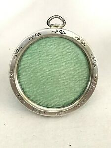 Antique Lullaby Alvin 1907 Signed Sterling Silver Round Picture Photo Frame